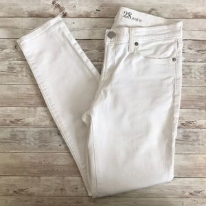 Jcrew white toothpick ankle denim